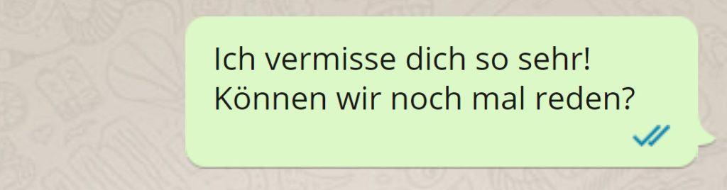 SMS an Ex: Ich vermisse dich so sehr.