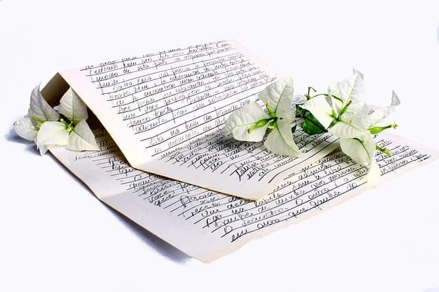 Liebeserklärung machen - Brief